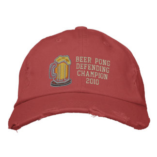 Beer Pong Defending Champion Embroidered Cap