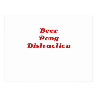 Beer Pong Distraction Post Card