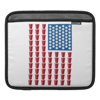 Beer Pong Drinking Game American Flag Sleeve For iPads