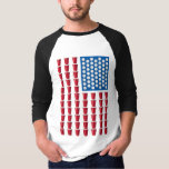 Beer Pong Drinking Game American Flag Shirt