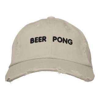 Beer Pong Embroidered Baseball Cap