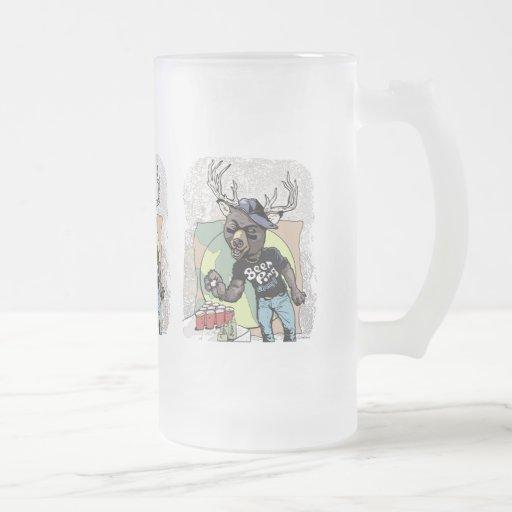 Beer? Pong Funny Beer Deer Hybrid Mugs
