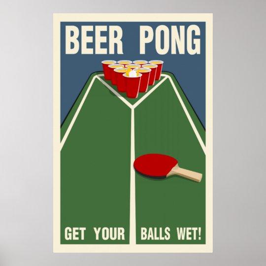 Beer Pong: Get Your Balls Wet! Poster