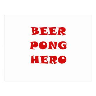 Beer Pong Hero Post Cards