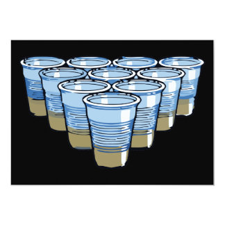 "beer pong 5"" x 7"" invitation card"