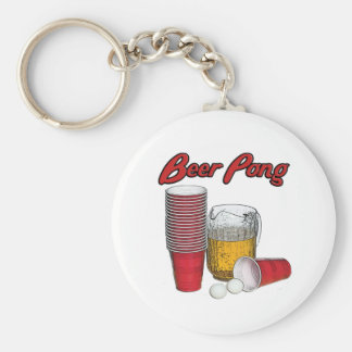 Beer Pong Key Chains
