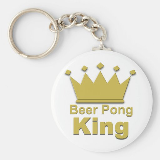 Beer Pong King #2 Keychains