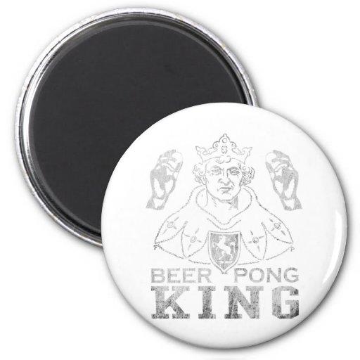 Beer Pong King 6 Cm Round Magnet