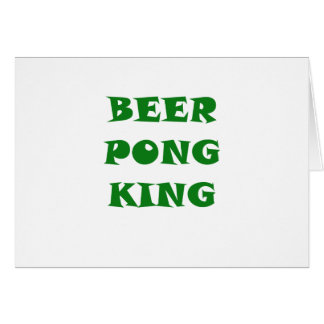 Beer Pong King Cards
