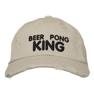 Beer Pong King Embroidered Baseball Cap