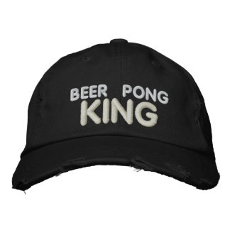 Beer Pong King Embroidered Hats
