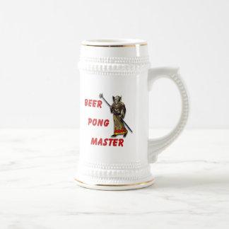 Beer Pong Master 18 Oz Beer Stein
