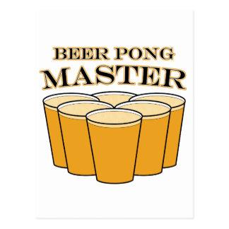 Beer Pong Master Postcard