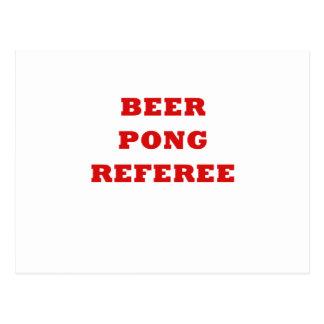 Beer Pong Referee Post Card