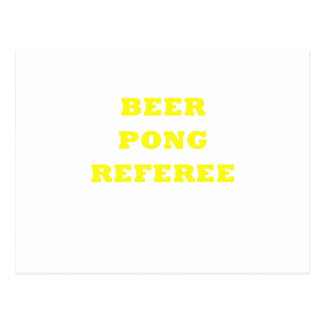 Beer Pong Referee Postcard
