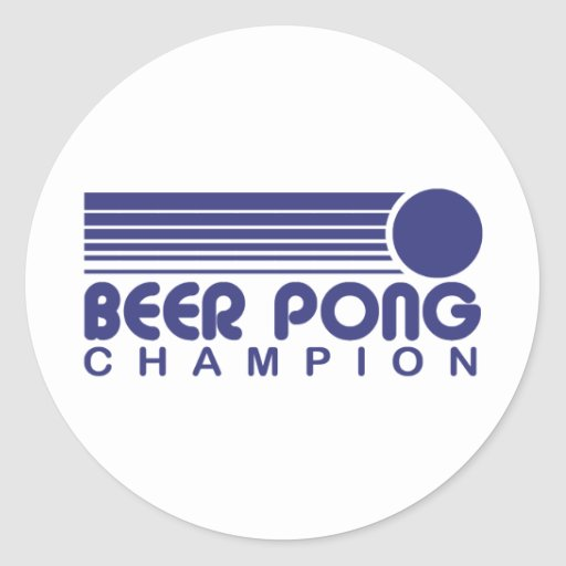 Beer Pong Round Sticker