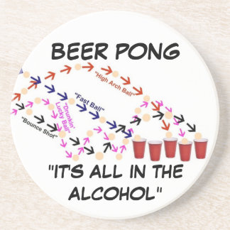 Beer Pong Slogan Coaster