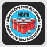 Beer Pong Square Sticker