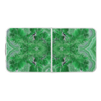 Beer Pong Table with Rhodochrosite green stone
