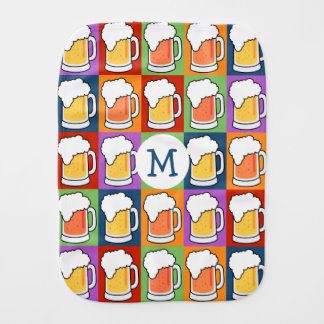 BEER Pop Art burp cloth