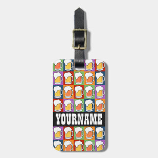 BEER Pop Art custom luggage tag