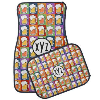 BEER Pop Art custom monogram car mats