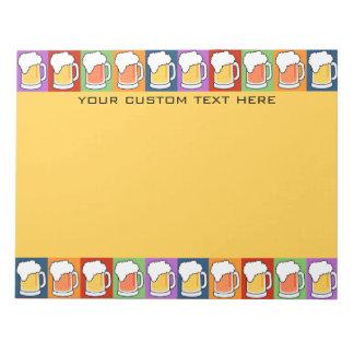 BEER Pop Art custom notepad