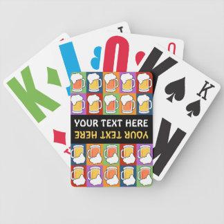 BEER Pop Art custom playing cards