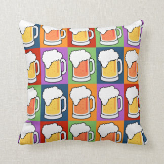 BEER Pop Art custom throw pillow
