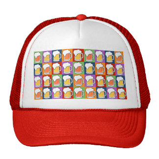BEER Pop Art hats
