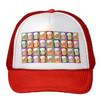 BEER Pop Art hats