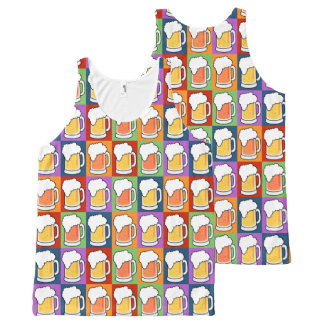 BEER Pop-Art tanktop All-Over Print Tank Top