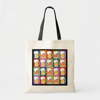 BEER Pop Art tote bags