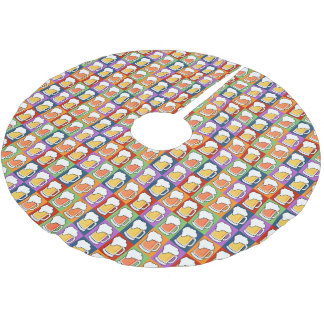 BEER Pop Art tree mat Brushed Polyester Tree Skirt
