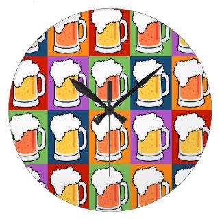 BEER Pop Art wall clock