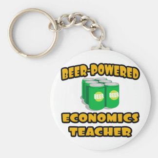 Beer-Powered Economics Teacher Key Chains