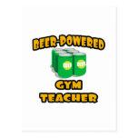 Beer-Powered Gym Teacher Postcard