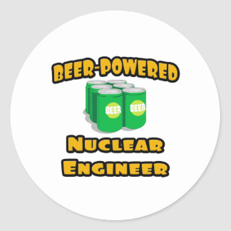 Beer-Powered Nuclear Engineer Classic Round Sticker
