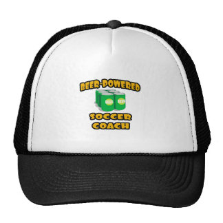 Beer-Powered Soccer Coach Mesh Hats