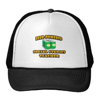 Beer-Powered Social Studies Teacher Hats