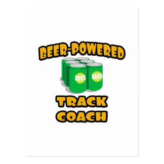 Beer-Powered Track Coach Postcard