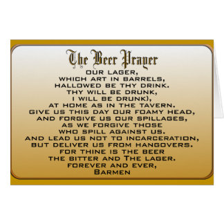 Beer Prayer Card