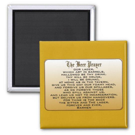 Beer Prayer Square Magnet