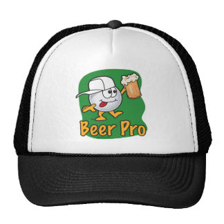 Beer Pro Cartoon Golf Ball Cap