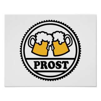 Beer Prost Cheers Poster