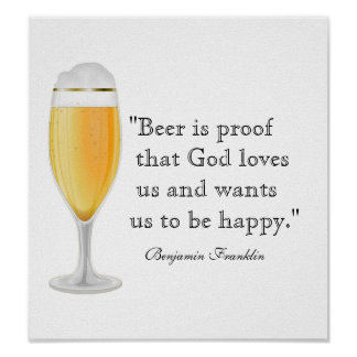 Beer Quote Poster