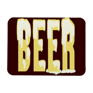 beer rectangular photo magnet