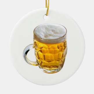 Beer Round Ceramic Decoration