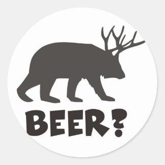 beer ? round sticker