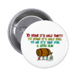 Beer Run Humour Button